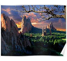 Morning Light At The Garden Of The Gods Poster