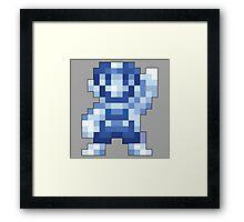 Super Mario Maker - Silver Mario Costume Sprite Framed Print