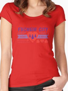 Fuchsia City Gym  Women's Fitted Scoop T-Shirt