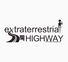 Extraterrestrial Highway (Black text for Light T-Shirts) by luxenarmy