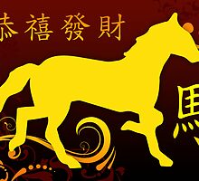 happy chinese new year : year of the horse by maydaze