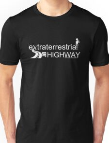 Extraterrestrial Highway (Light text for Dark T-Shirts) Unisex T-Shirt