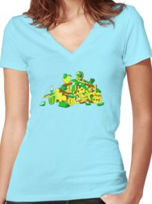 Collect Them All Women's Fitted V-Neck T-Shirt