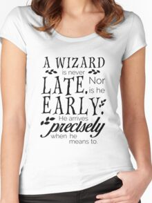 A Wizard is Never Late Women's Fitted Scoop T-Shirt