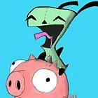 gir riding pig by kidkb09