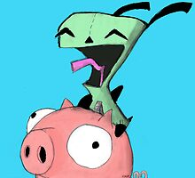 gir riding pig by kidkb09