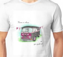 Volkswagen T2 Campervan home is where you park it Unisex T-Shirt