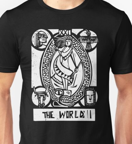 The World - Tarot Cards - Major Arcana Unisex T-Shirt