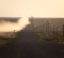 A Dusty Road and Telephone Lines by Don Arsenault