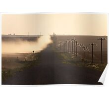 A Dusty Road and Telephone Lines Poster