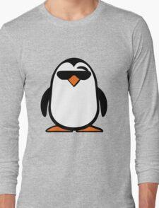 Chillax Penguin Long Sleeve T-Shirt