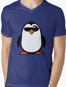 Chillax Penguin Mens V-Neck T-Shirt