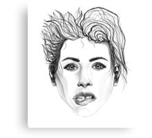 Girl Biting Her Lip Canvas Print