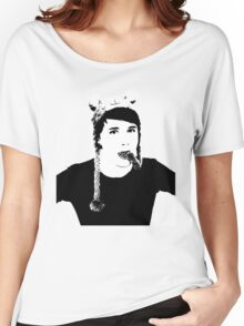 Black and White Dan Howell Women's Relaxed Fit T-Shirt