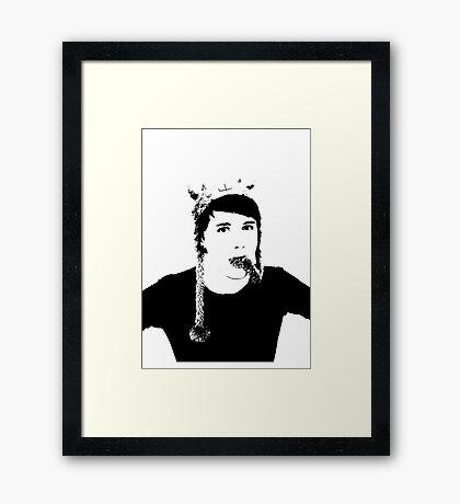 Black and White Dan Howell Framed Print