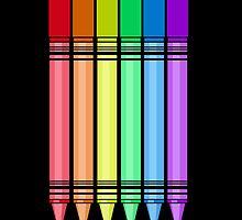 Rainbow Crayon 2 by Adamzworld