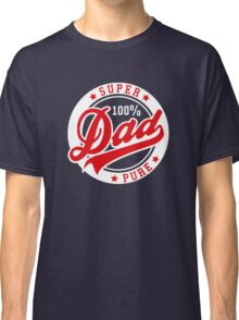 100 percent PURE SUPER DAD Red/White Classic T-Shirt