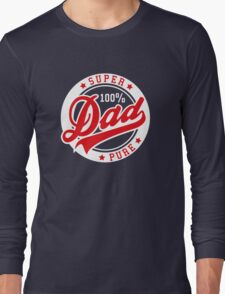100 percent PURE SUPER DAD Red/White Long Sleeve T-Shirt