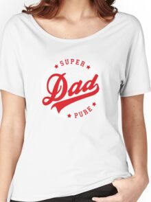 100 percent PURE SUPER DAD Red/White Women's Relaxed Fit T-Shirt