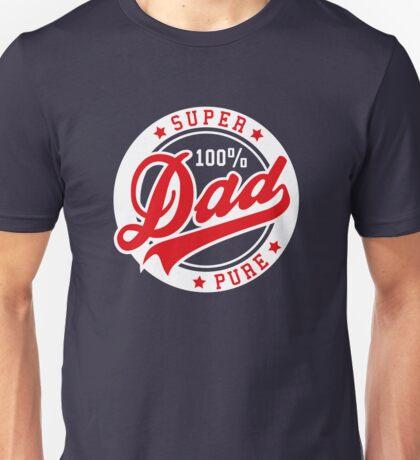100 percent PURE SUPER DAD Red/White Unisex T-Shirt