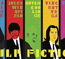 Pulp Fiction - Vibrating Colors by Kattypanda