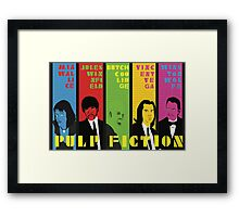 Pulp Fiction - Vibrating Colors Framed Print
