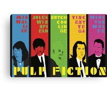 Pulp Fiction - Vibrating Colors Canvas Print