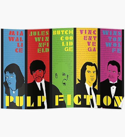 Pulp Fiction - Vibrating Colors Poster