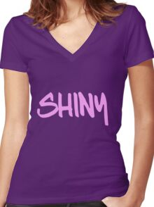 Shiny!!! Women's Fitted V-Neck T-Shirt