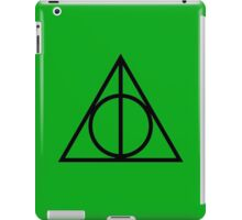 The Deathly Hallows - Green iPad Case/Skin