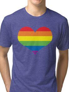 Rainbow Heart Tri-blend T-Shirt