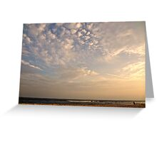 the sky and the sea Greeting Card