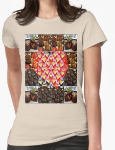 love triangle Womens Fitted T-Shirt