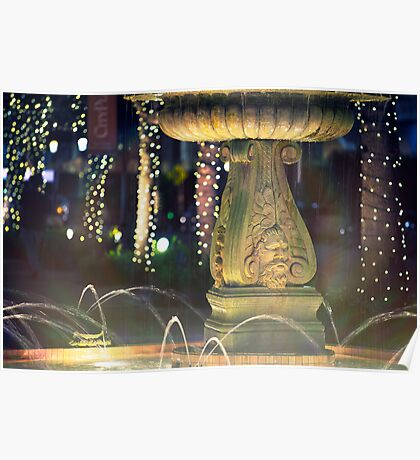 City Fountain Poster