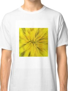 Bright yellow macro flower explosion Classic T-Shirt