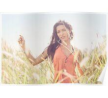 Beauty in Meadow Poster