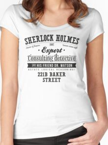 Sherlock Holmes Ad -Dark- Women's Fitted Scoop T-Shirt