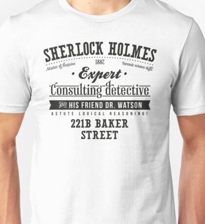 Sherlock Holmes Ad -Dark- Unisex T-Shirt