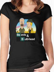Breaking Beavis  Women's Fitted Scoop T-Shirt