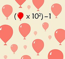 99 Red Balloons Maths Equation by jezkemp