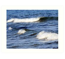 Lake Michigan waves,in wisconsin Art Print