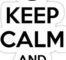 Keep Calm and Follow Me Sticker