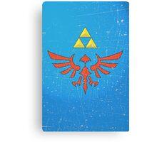Vintage Look Zelda Link Hylian Shield Graphic Canvas Print