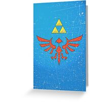 Vintage Look Zelda Link Hylian Shield Graphic Greeting Card