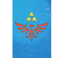 Vintage Look Zelda Link Hylian Shield Graphic Photographic Print