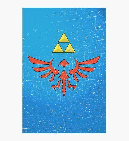 Vintage Look Zelda Link Hylian Shield Graphic Photographic Print