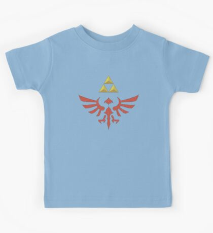 Vintage Look Zelda Link Hylian Shield Graphic Kids Tee