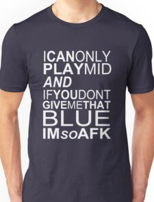 I'm So AFK - White Text Unisex T-Shirt