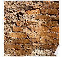 Vintage Brick Wall Poster