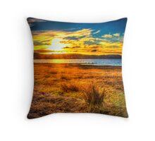 Swan Bay Sunset Throw Pillow
